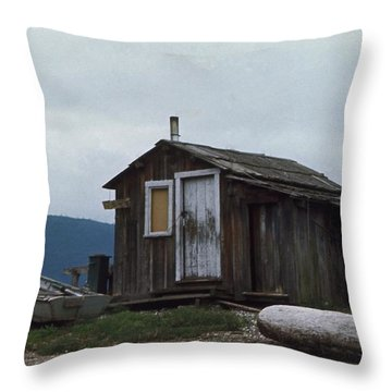 Hermit Throw Pillow by Laurie Stewart