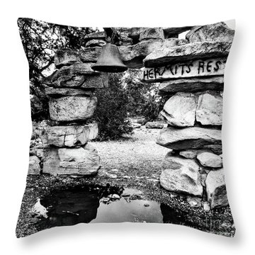 Hermit's Rest, Black And White Throw Pillow