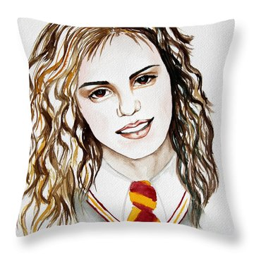 Hermoine Granger Throw Pillow by Maria Barry