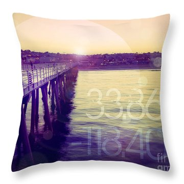 Throw Pillow featuring the photograph Hermosa Beach California by Phil Perkins