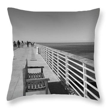 Hermosa Beach Seat Throw Pillow