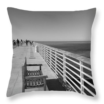 Hermosa Beach Seat Throw Pillow