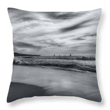 Hermosa Evening Black And White Throw Pillow