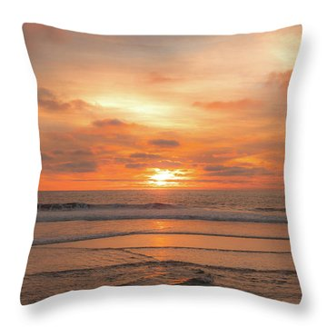 Throw Pillow featuring the photograph Hermosa Sunset Classic3 by Michael Hope