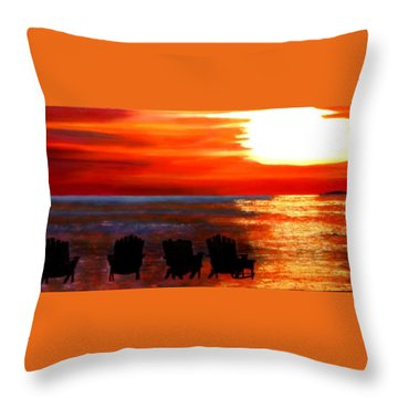 Hernando Beach Throw Pillow
