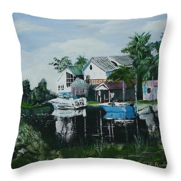 Hernando Beach Throw Pillow by Luis F Rodriguez