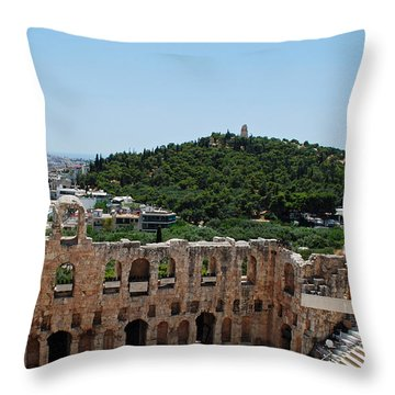 Herodeons Amphitheatre Throw Pillow