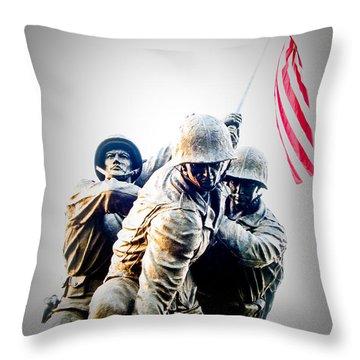 Heroes Throw Pillow by Julie Niemela