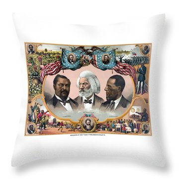 Heroes Of The Colored Race  Throw Pillow by War Is Hell Store