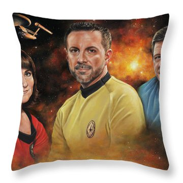 Heroes Of The Farragut Throw Pillow