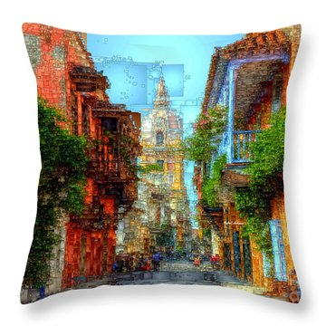 Heroic City, Cartagena De Indias Colombia Throw Pillow