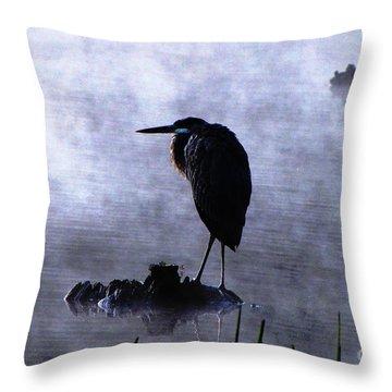 Heron 4 Throw Pillow by Melissa Stoudt