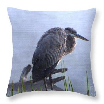 Heron 5 Throw Pillow by Melissa Stoudt