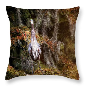 Heron Camouflage Throw Pillow