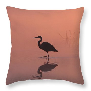 Heron Collection 1 Throw Pillow by Melissa Stoudt