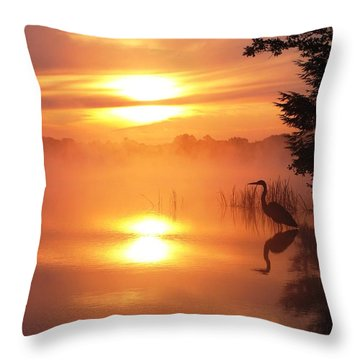 Heron Collection 2 Throw Pillow by Melissa Stoudt