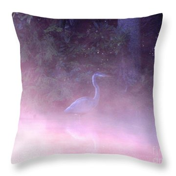 Heron Collection 3 Throw Pillow by Melissa Stoudt