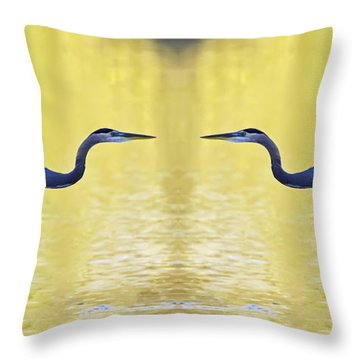 Heron Dance Throw Pillow