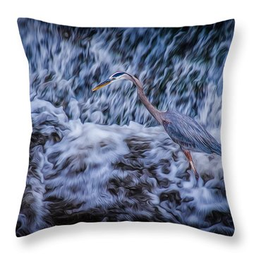 Heron Falls Throw Pillow
