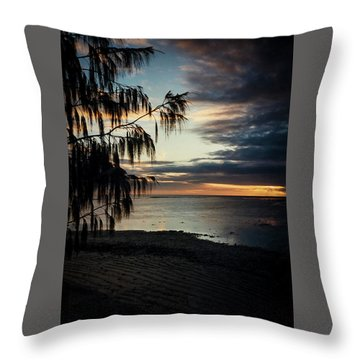 Heron Island Sunset  Throw Pillow