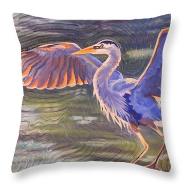 Heron Majesty Throw Pillow