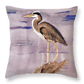 Heron No. 2 Throw Pillow