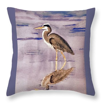 Heron No. 2 Throw Pillow