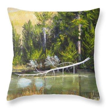 Heron Perch Throw Pillow