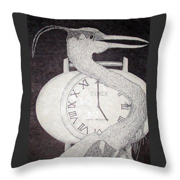 Heron Time Throw Pillow