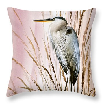 Herons Watch Throw Pillow by James Williamson