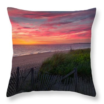 Herring Cove Beach Sunset Throw Pillow