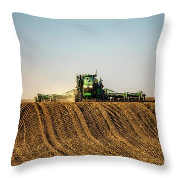 Herringbone Sowing Throw Pillow