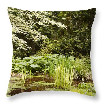 Herronswood Wetlands Throw Pillow