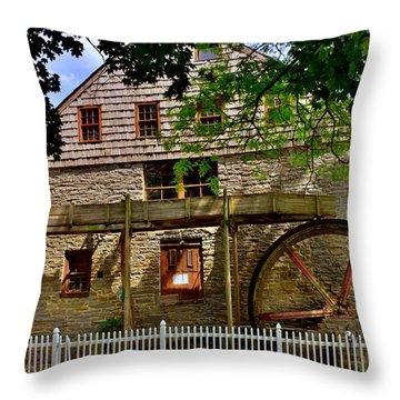 Herr's Grist Mill Throw Pillow