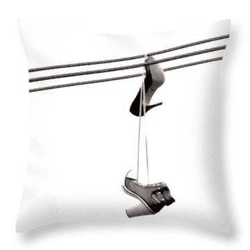 Hers Throw Pillow by Linda Hollis