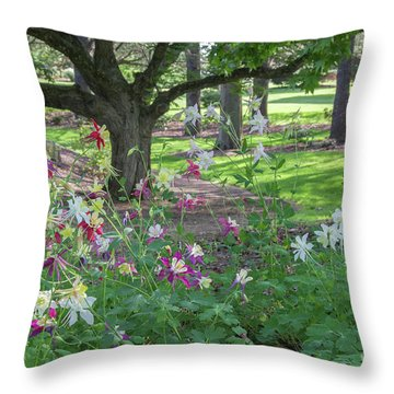 Throw Pillow featuring the photograph Hershey Gardens 1 by Chris Scroggins