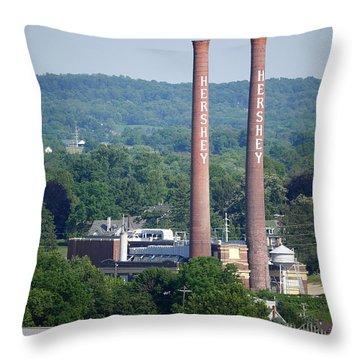 Hershey Smokestacks Throw Pillow
