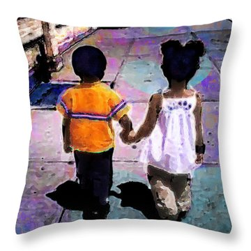 Heru And Olivia Throw Pillow