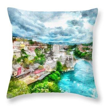 Herzegovina Vista Throw Pillow by Shirley Stalter