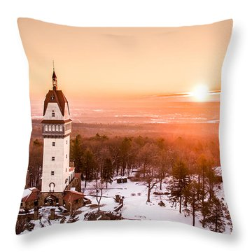 Throw Pillow featuring the photograph Heublein Tower In Simsbury Connecticut by Petr Hejl
