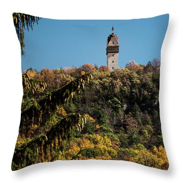 Heublein Tower Throw Pillow