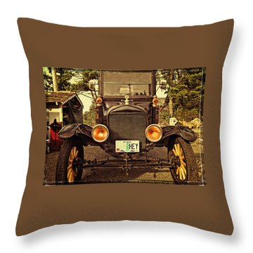 Hey A Model T Ford Truck Throw Pillow