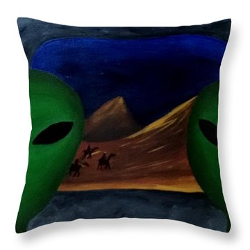 Hey Bob, I Think They Are Following Us.. Throw Pillow
