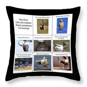 Throw Pillow featuring the photograph Hey Doc by Shane Bechler