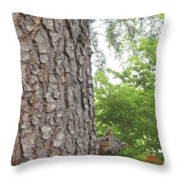 Throw Pillow featuring the photograph Hey Down Here by Marie Neder