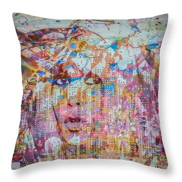 Throw Pillow featuring the digital art Hey Good Lookin by Eleni Mac Synodinos