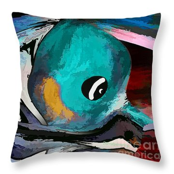 Hey Guy I Am Silly Willy The Fish Throw Pillow