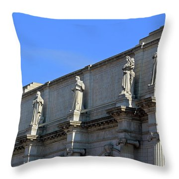 Hey Is That Joe Biden One Statue Said To Another At Union Station Throw Pillow