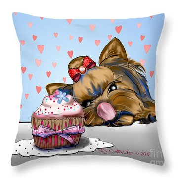Hey There Cupcake Throw Pillow by Catia Cho