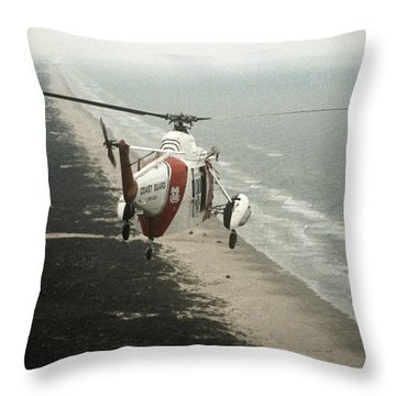 Hh-52a Beach Patrol Throw Pillow